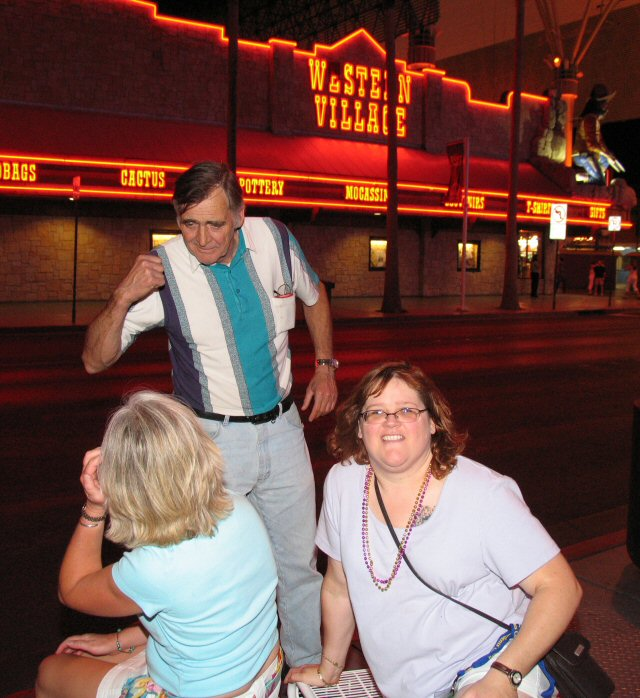 Some really strange drunk guy who got off a city bus. Strange people in Vegas? No way!