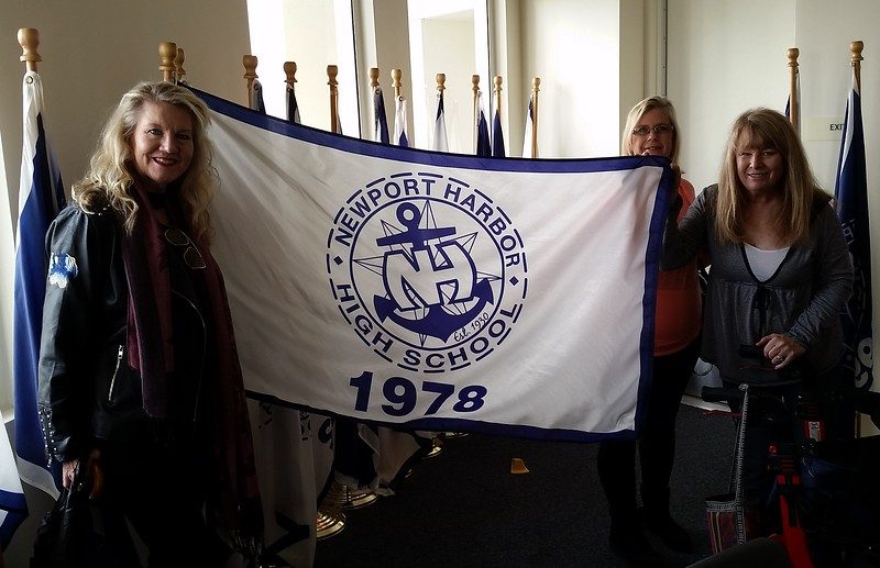 On an earlier campus tour, our committee found our class flag!