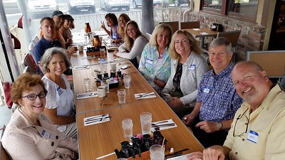Some of us kicked-off our 40-year Reunion Weekend with a Friday morning breakfast at Pancakes R Us, (formerly the iHop restaurant on 17th Street).  Mike and Leslie (Feducia) Lovier came all the way from Texas, Larry and Mary (Allen) Kissner cam all the way from Chicago, but Franci Vittrup's daughter and son-in-law, Christy and Ken Blum, came all the way from Switzerland!
