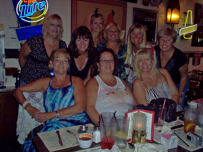 The Balboa Penninsula girls at their pre-reunion party- Robin Dense, Brenda Bailey, Tami Briery, Kerri Smull, Karen Nielsen, Karen Swan, Suzanne Oelke, Jeannine Mansur, Karen Hillman