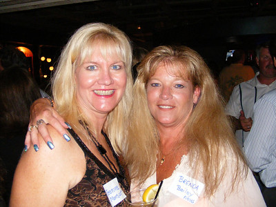 Jeannine Mansur and Brenda Bailey, friends since their days at Newport Elementary School