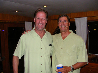 After getting over their initial embarrassment, Frank Venclik and Dave Clark proudly displayed their matching attire, that surprisingly included the same color shoes, slacks, and underwear!