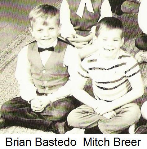 Brian Bastedo in kindergarten at Mariners Elementary School in 1965