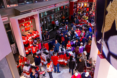 Panther fans search for team gear in Pantherland at the BB&T Center, where the Florida Panthers hosted the Vancouver Canucks on Thursday, January 9, 2020. The Panthers would go on to beat the Canucks 5-2. [JOSEPH FORZANO/palmbeachpost.com]