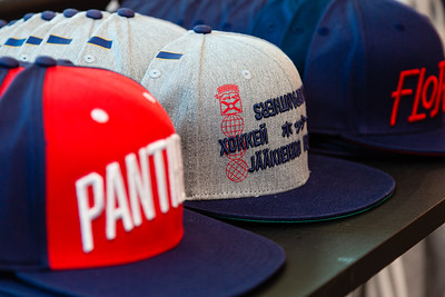 Panthers' hats on sale at Pantherland in the BB&T Center in Sunrise, FL on Thursday, March 5, 2020 where the Florida Panthers hosted the Boston Bruins. The Bruins went on to beat the Panthers 2-1 in overtime. [JOSEPH FORZANO/palmbeachpost.com]