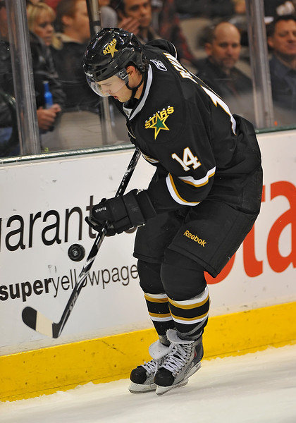 Dec 31st, 2009:  <br /> Dallas Stars left wing Jamie Benn #14<br /> in a game between the Anaheim Ducks and the Dallas Stars at the AAC in Dallas, Texas.<br /> Stars win 5-3