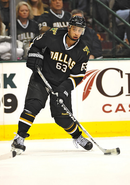 Dec 31st, 2009:  <br /> Dallas Stars center Mike Ribeiro #63<br /> in a game between the Anaheim Ducks and the Dallas Stars at the AAC in Dallas, Texas.<br /> Stars win 5-3
