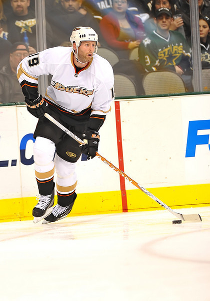 Dec 31st, 2009:  <br /> Anaheim Ducks defenseman Ryan Whitney #19<br /> in a game between the Anaheim Ducks and the Dallas Stars at the AAC in Dallas, Texas.<br /> Stars win 5-3