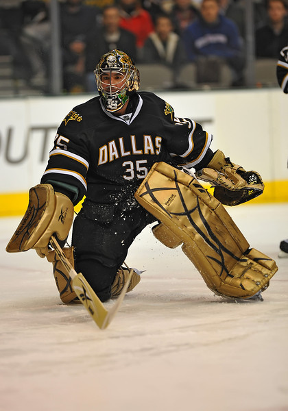 Dec 31st, 2009:  <br /> Dallas Stars goalie Marty Turco #35 in a game between the Anaheim Ducks and the Dallas Stars at the AAC in Dallas, Texas.<br /> Stars win 5-3