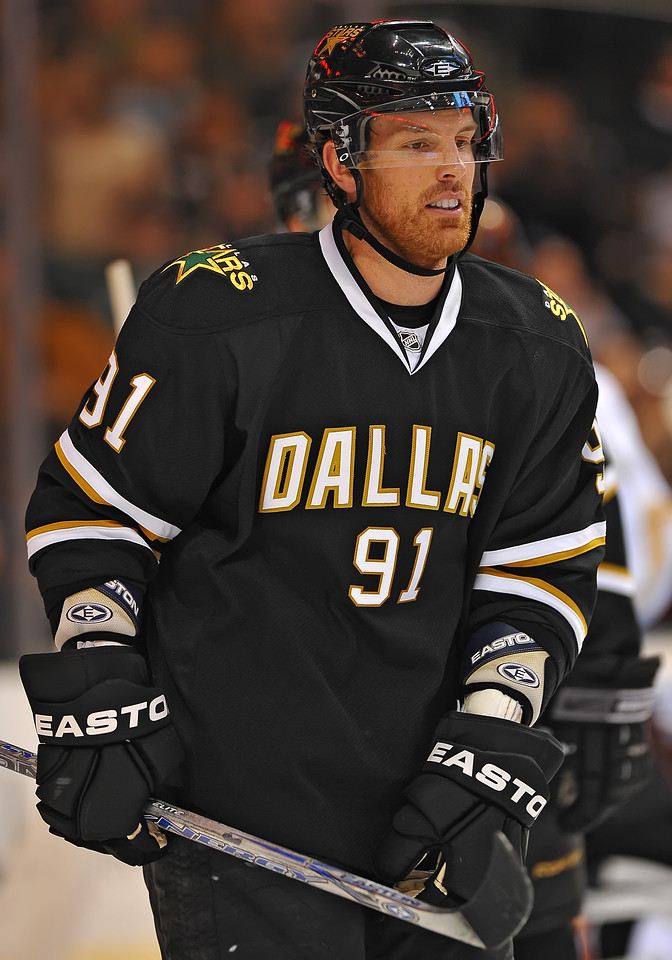 Dec 31st, 2009:  <br /> Dallas Stars center Brad Richards #91<br /> gets two assist in a game between the Anaheim Ducks and the Dallas Stars at the AAC in Dallas, Texas.<br /> Stars win 5-3