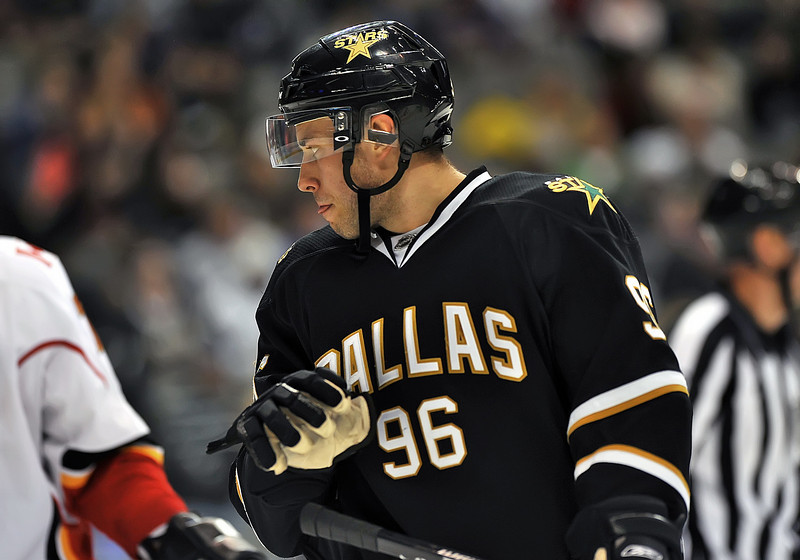November 4th, 2009:  <br /> Dallas Stars left wing Fabian Brunnstrom (96) in action during a game between the Calgary Flames and the Dallas Stars at the AAC in Dallas, Texas.  <br /> Calgary beats Dallas in OT 3-2