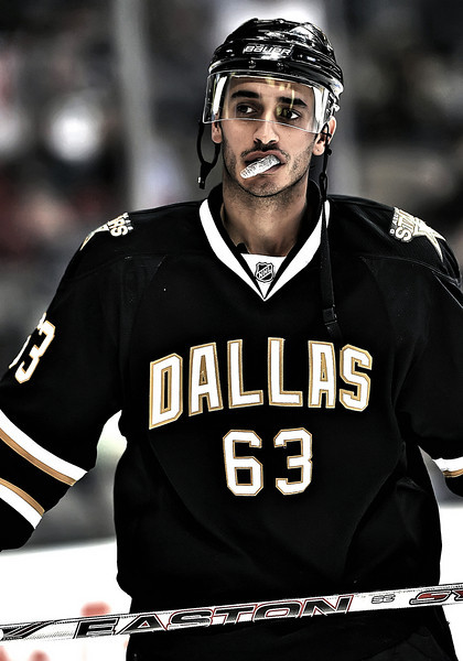 November 4th, 2009:  <br /> Dallas Stars center Mike Ribeiro (63) in action during a game between the Calgary Flames and the Dallas Stars at the AAC in Dallas, Texas.  <br /> Calgary beats Dallas in OT 3-2
