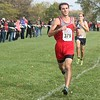Grosse Ile's Adam Sawicki was fourth overall (16:45.67). Lake Erie Metropark hosted the annual high school boys' cross country Regional on Saturday, Oct. 29, 2016. (MiPrepZone photo gallery by Terry Jacoby)