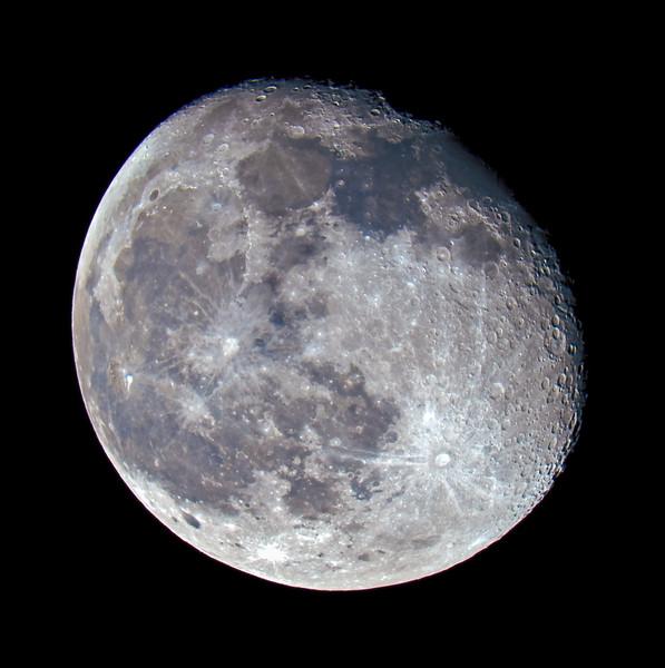Waning Gibbous Moon over the Scottish Highlands