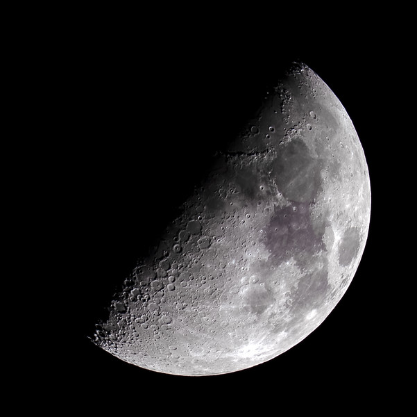 Half Moon over the Highlands of Scotland