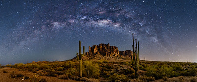 MILKY WAY ARCHES OVER LOST DUTCHMAN