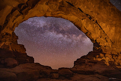 Milky Way through the North Window.  Arches National Park.