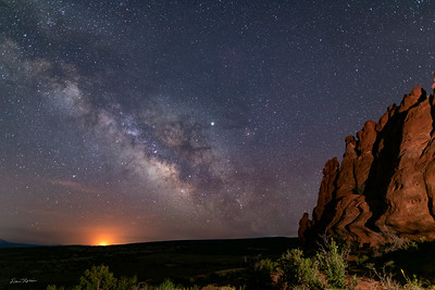 Milky Way from Navajo Rocks.  Northwest of Moab, Utah.