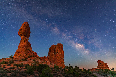 Balanced Rock and the Milky Way at Twilight