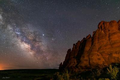 Mailky Way from Navajo Rocks 2.  Northwest of Moab, Utah.