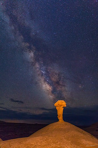 Milky Way over Secret Spire.  Verticle.