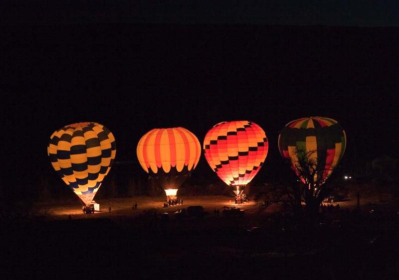 Bluff Balloon Festival.  Twilight event
