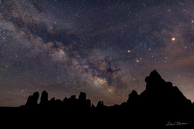Milky Way from the Windows Primitive Trail.  Arches National Park.