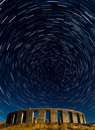 I thought seeing the circular star trails above the circular memorial would make an interesting image. A full moon illuminates the Stonehenge World War I Memorial in Maryshill, Washington under a star trails composite of the starry sky circling around the North Star, Polaris.  100 15 second long exposure images were combined into this single image.  ISO 800, f/4.0, 16mm.    #nightsky #nightscape #nightskape #astrophoto #starrynight #nightscaper #ig_astrophotography  #nightphotography #nightscapes #starrysky  #astrophoto #starphotography #starscape #starrynight #astro_photography_ #backyardbend #nwadventurephoto #portland #pdx #portlandnw #night_shooterz #night_sky #nightscape #night_shooters #night_excl #nightphotography_exclusive #pnwcollective #northwestisbest #thatpnwlife #wanderwashington
