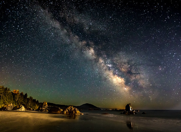 TRI-LIGHT VIEW---- Sometimes we get a little extra lighting help with our photos. I knew I'd have about a 50 percent moon to front light the scene while photographing the lights of the Milky Way. Then a commercial fishing both returning the Port Orford, Oregon harbor turned on its bright lights. The side lighting was an unexpected addition to the scene which suddenly became greatly illuminated under the night sky.  #nightsky #astrophotography  #stars #nightscape #nightskape #astrophoto #starrynight #nightscaper #ig_astrophotography  #stargazing   #nightphotography #longexposure #galaxy  #milkywaygalaxy #longexpo   #nightscapes #starrysky #thestars #milkyway #starphotography #starscape #astro_photography_ #ic_longexpo #fs_longexpo #oregoncoast #bestoforegoncoast #coastexplorer #oregonnw    #backyardbend #jj_oregon