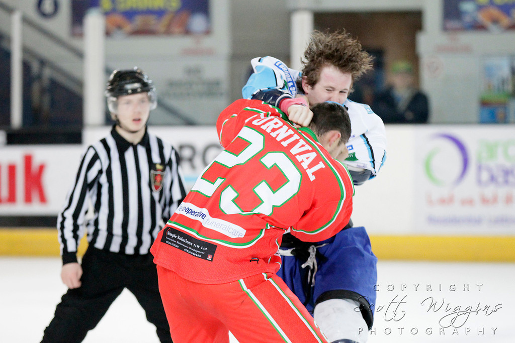 Coventry Blaze v Deeside Dragons<br /> National Ice Hockey League (NIHL) relegation play off second leg.<br /> <br /> Coventry won 5-1 on the night to win on aggregate 9-4