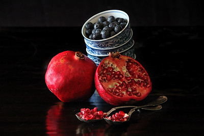 Pomegranate and Blueberries