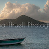 The view looking left towards St. Kitts from Nisbet's beach.