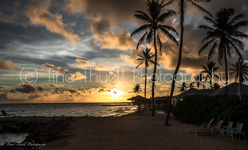 Sunrise beautiful drama in the sky at Nisbet's Beach