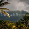 Our stunning, cloud topped Mt. Nevis! Always beautiful at all times.  This photo taken from Nisbet's beach with a zoom lens.