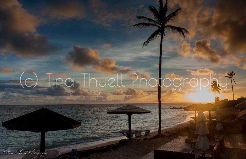 Sunrise overlooking Nisbet's  beach.