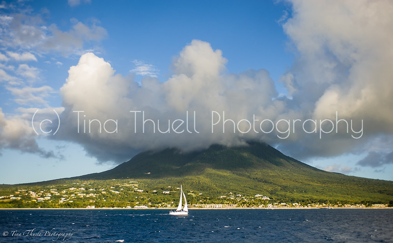 Taking the ferry across  from St. Kitts to Nevis is always a visual treat.