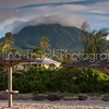 Mt Nevis as seen from Nisbet's beach.  Cottage showing is a Premier upper level unit.