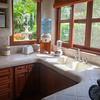 Casa Fantasia kitchen; with microwave, juicer, toaster, drinking water dispenser, blender, coffee maker, mixer.