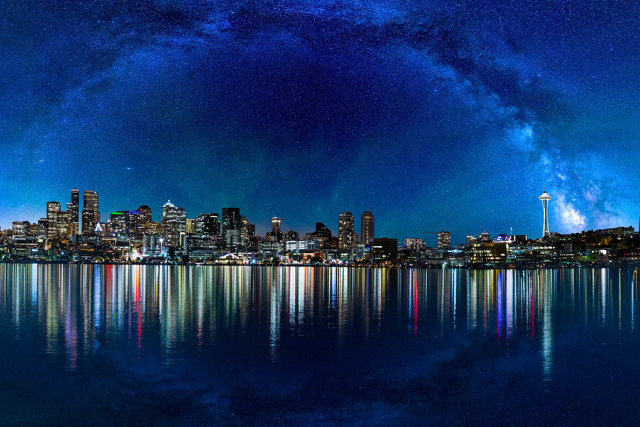 Impossible Milky Way over Seattle
