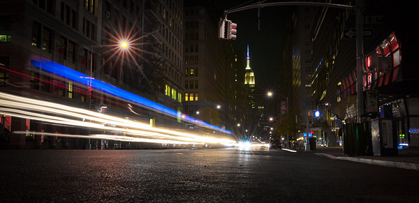 Long Exposure NYC Street