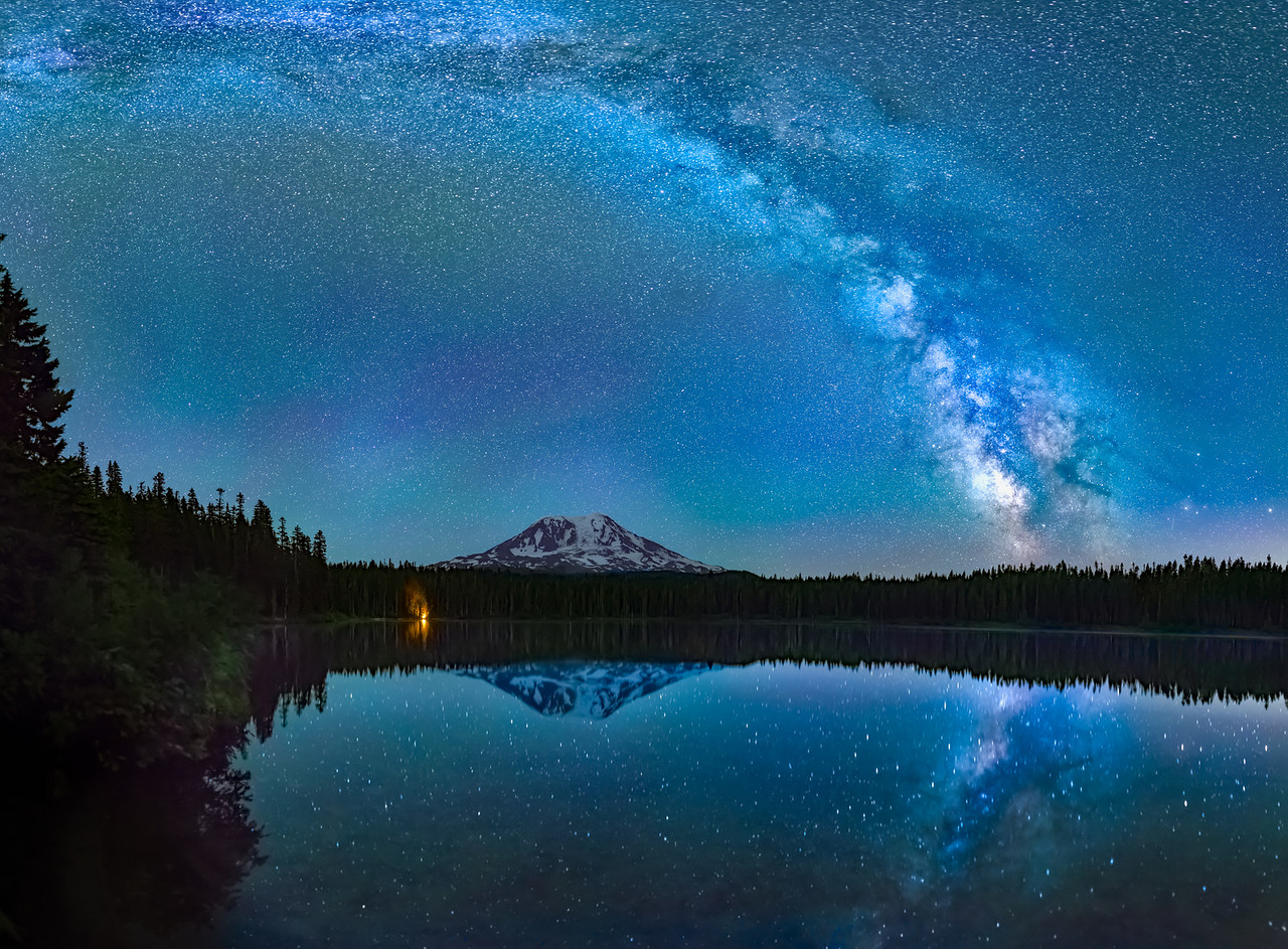 Takhlakh Lake Milky Way Reflection