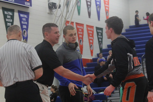 NIghthawks' wrestling double dual in SIoux Center 12-15-16