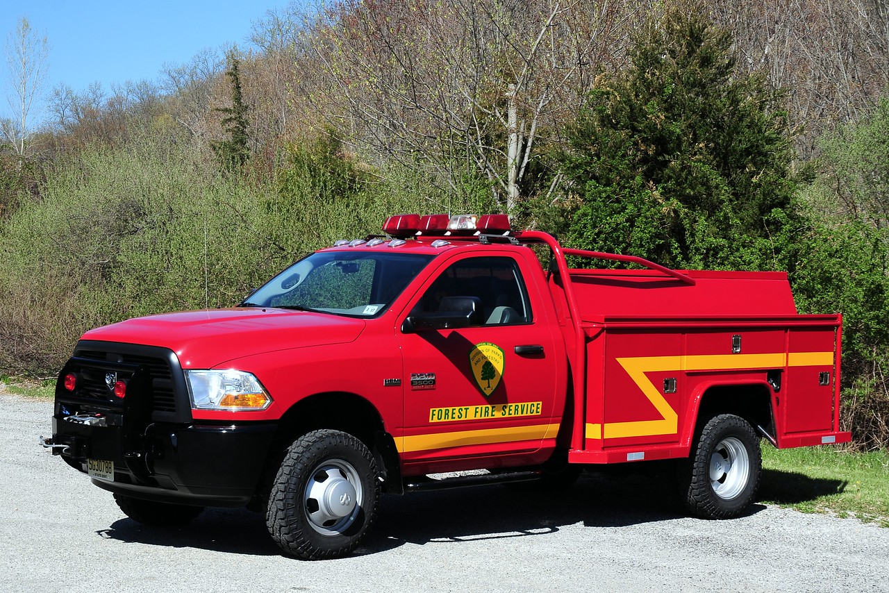 New Jersey State Forest Fire Service Div A North Jersey A-38 Mechanic's Truck  2012  Dodge  3500 / Knaphedie body