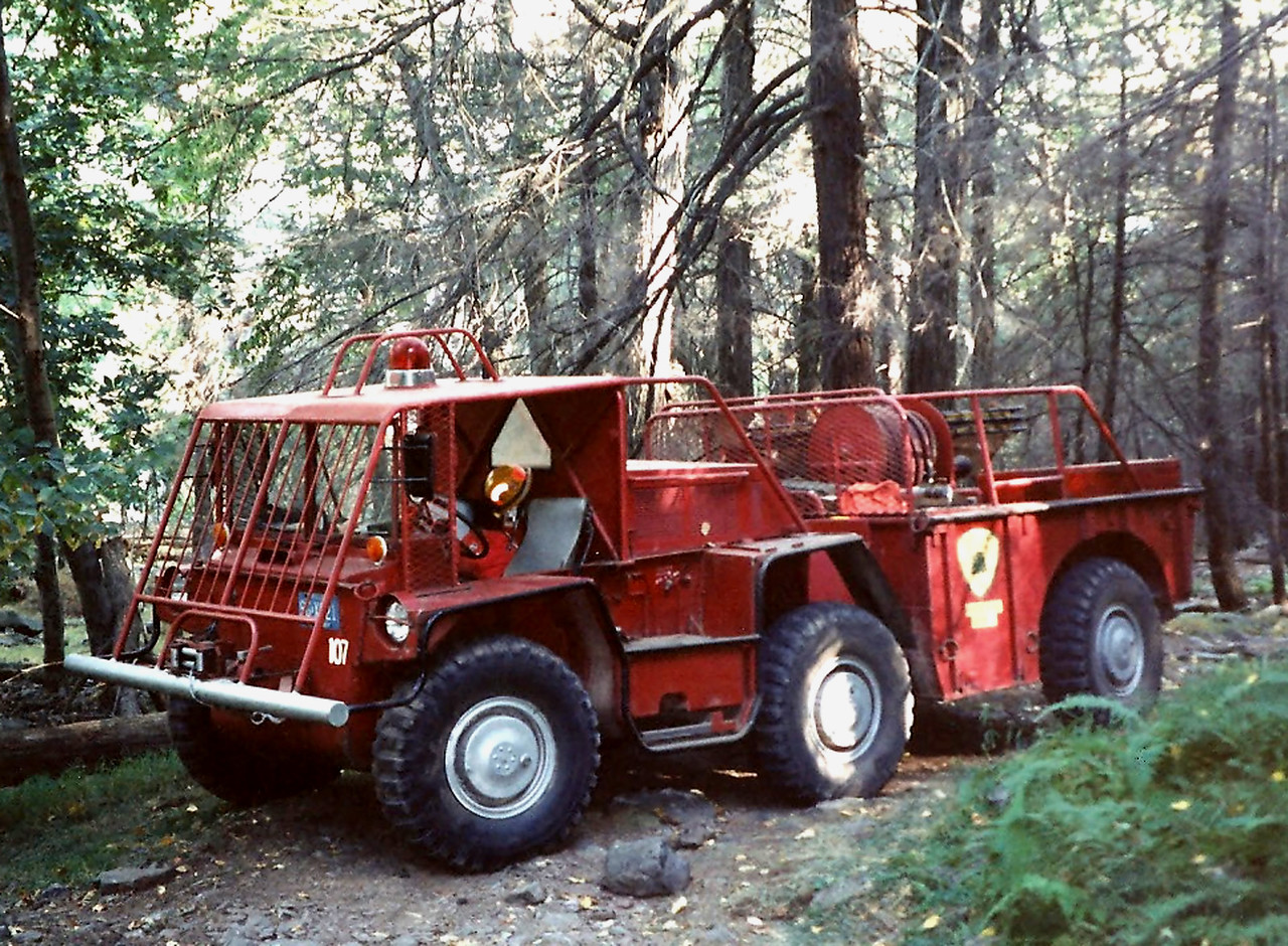 NJ State forest fire Service Div A North Jersey  A-94 1968 Gama-Goat   Manufactured by Consolidated  Diesel Electric Company  6 wheel drive hale pump 125/250 250 boooster reel