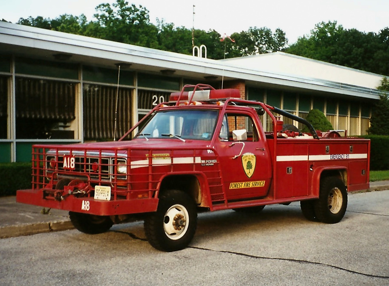 NJ State forest fire  Service  A-18  1990 Dodge 350   250/ 250