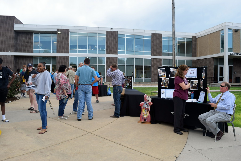 . Students were able to find out about various clubs on campus Thursday, Aug. 17, 2017, at Northeastern Junior College\'s BBQ and Community Club Fair, part of the college\'s move-in day activities.