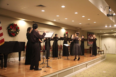 16 December Fortissimo Flutes and Clarinet Ensemble at Arbor Glen