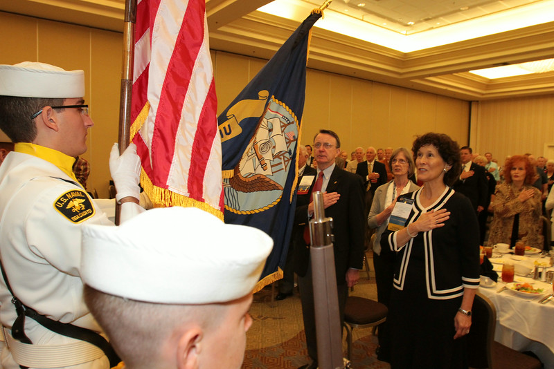 Hall of Fame Luncheon at the 2014 Navy League National Convention in San Diego, CA.
