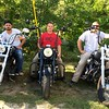 """""""Angels Wings"""" bikers, from left, Josh Schrader, Arron Symonds and Mike Ferris, all of Pepperell"""