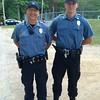 Pepperell Auxiliary Policemen Lt. Glenn Caswell, left, and Neil Maskalenko, both of Pepperell
